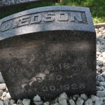 Túmulo de James Edson White o segundo filho de Ellen G. White – Oak Hill Cemetery,